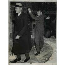 1935 Press Photo Charles A. Lindbergh after the Hauptmann trial Flemington Fl.
