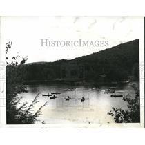 1941 Press Photo Camp Fire Girls at Camp Talualac Arden NY - nee04366