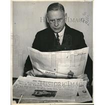 1938 Press Photo Minister Edgar Prochnick raises Nazi Flag over Austrian