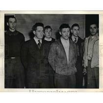 1945 Press Photo Farm workers in court forced to join the military - nee06089