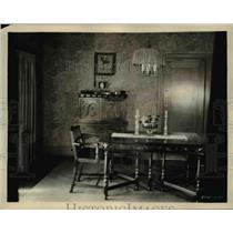 1924 Press Photo Dinning room in hollywood home of Jack Gilbert of Metro Goldwyn