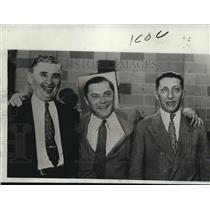1933 Press Photo 3 Men Acquitted Kronich, Blumfeld the Urschel Kidnapping