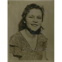 1934 Press Photo Susie Roboski