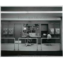 1956 Press Photo Central automatic digital data encoder at Lewis Unitary Plan