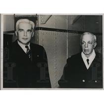 1938 Press Photo Commissioner to Philippine Paul McNutt & Rear Adm Yarnell