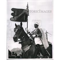 1952 Press Photo Standard Bearer of Spain's General Franco in Uniform