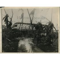 1926 Press Photo Scene After Florida Hurricane - nee04364