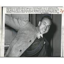 1961 Press Photo Dr. Robert Hofstadter Co-Winner of Nobel Prize for Physics