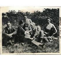 1937 Press Photo Rakmsay MacDonald, Dr. & Mrs. Mackinnon and Margaret Mac Kinnon
