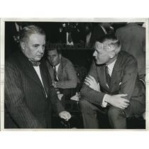 1933 Press Photo Cris Van Sweringen & George Whitney at Senate Investigation
