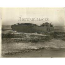 1927 Press Photo Ship Along California Coast After a Storm - nee04395