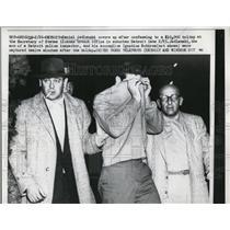 1958 Press Photo Detroit Mich Daniel Jedlenski robbery at license bureau