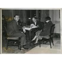 1935 Press Photo of an American Bridge League Tournament.