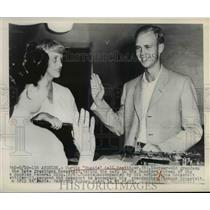 1948 Press Photo La Calif Curtis Roosevelt & mom Anna Roosevelt - nee03114