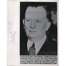1951 Press Photo Edwin L. James, New York Times Managing Editor - nee02409