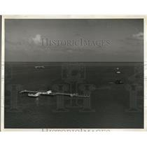 1940 Press Photo Rent land underwater in Biscayne Bay Miami Beach Florida