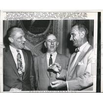 1957 Press Photo William F. Knowland, Rochard B. Russell and Lyndon Johnson