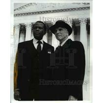 Press Photo Sidney Portier Burt Lancaster Separate But Not Equal