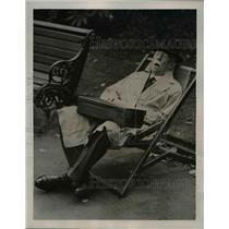 1940 Press Photo London's Temple Gardens After 7 Hour Air Raid - nee03429
