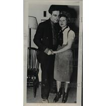 1939 Press Photo 22-Year-Old James Kent, 13-Year-Old Bride Verda Rose Grant