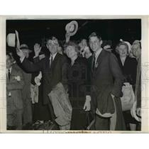 1944 Press Photo First Family of Mass. Arrive to attend Republican Convention
