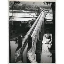 1962 Press Photo Lienkiang Kewichow Trunk Canal - nee01765