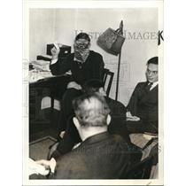 1937 Press Photo Alias Mr. Schmidt, masked German Seaman who is against the Nazi