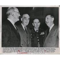 1952 Press Photo James W. Wadsworth, Adm. Thomas C. Kinkaid & Richard B. Russell