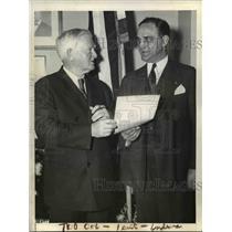 1935 Press Photo Senator Minton of Ind & VP John N Garner in DC - nee03222