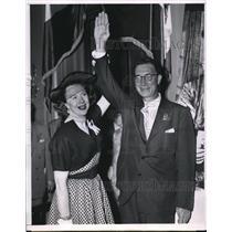 1952 Press Photo Nancy Kefauver & Husband Senator Estes Kefauver - nee02302