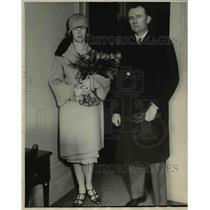1928 Press Photo Mrs and Mr Von Prittwritz from Germany. - nee05848