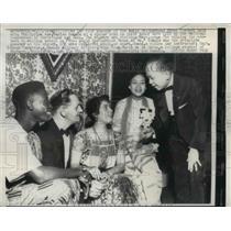1958 Press Photo Wash DC World Brotherhoos Essay contest, PI Amb Romalo