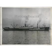 1937 Press Photo American linership City of Hamburg reported sunken