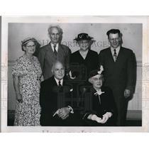 1952 Press Photo of (seated) F.W. Ramsey, Mrs Arthur Keller. (standing) Mrs,
