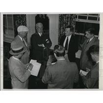 1936 Press Photo of Henry P. Fletcher being interviewed.