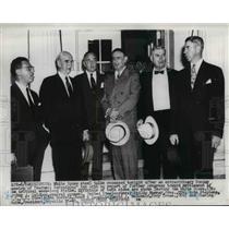 1952 Press Photo Wash DC AJ Goldberg, P Murray,J Stephens,B Morrell