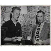1951 Press Photo Robert and John J. Schwei, Michigan State College - nee03755