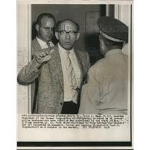1959 Press Photo Dr. Frank A. Beck leaves police headquarters in Palm Springs