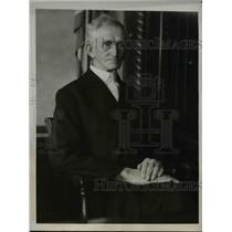 1932 Press Photo Reverend H.J. McKinnell, Father of Murder Suspect Winnie Judd
