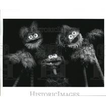 Press Photo Baby Teeth And Fuzzy Funk On Sesame Street - cvp56893