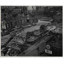 1927 Press Photo Looking down from Allerton Roof on new Greyhound bus terminal