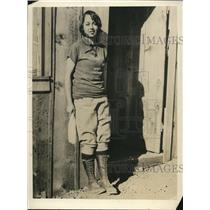 1929 Vintage Press Photo Jean Frey, studying forestry