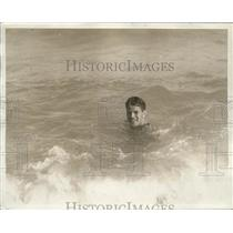 1926 Press Photo boxer Gene Tunney frolicking in the surf