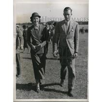 1936 Press Photo Polo player William Post & sister Frances at the race in Camden