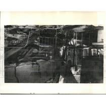 1941 Press Photo Barmbecker Hospital Damaged by British Bombs on Hamburg Germany