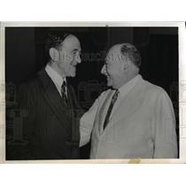 1942 Press Photo of Leo Rowe and Rodrigues Alves.leading figures in Hemispheric