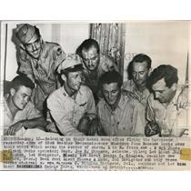1947 Press Photo 53rd Crew of Weather Reconnaissance Squadron After Detail