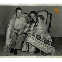 1942 Press Photo of the Johnson family and survivors of the Torpedoed Lady