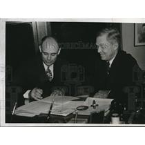 1938 Press Photo Francis R Blades St Louis Cardinals mgr & Pres Sam Breadon