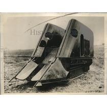 1927 Press Photo Sugar Cane Harvesting Machine - nee08776